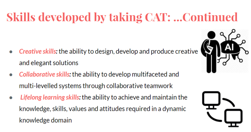 skills developed by taking cat 2
